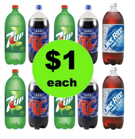 STOCK UP on 7UP, Diet Rite or RC Cola Only $1 Each at Winn Dixie! (Ends 5/8)