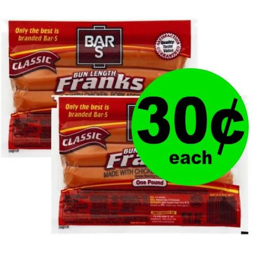 ?Bar-S Classic Franks Are 30¢ at Publix! (Ends 5/15 or 5/16)
