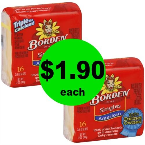 🧀Borden Cheese Singles are $1.90 each at Publix! (5/17 – 5/23 or 5/16 – 5/22)