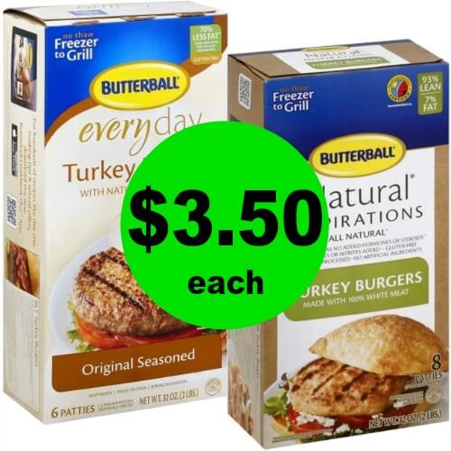 ?Butterball Turkey Burgers, $3.50 (Reg. $9) at Publix! (5/16-5/22 or 5/17-5/23)