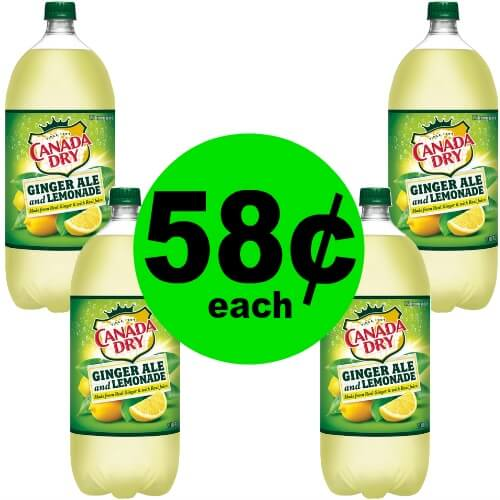 Canada Dry Ginger Ale & Lemonade 2 Liters, 58¢ at Publix!