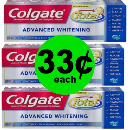 Colgate Total Toothpaste, 33¢ at CVS! (5/13-5/19)