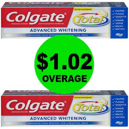(2) FREEbies + $1.02 Overage on Colgate Total Toothpaste at CVS! (Ends 5/12)
