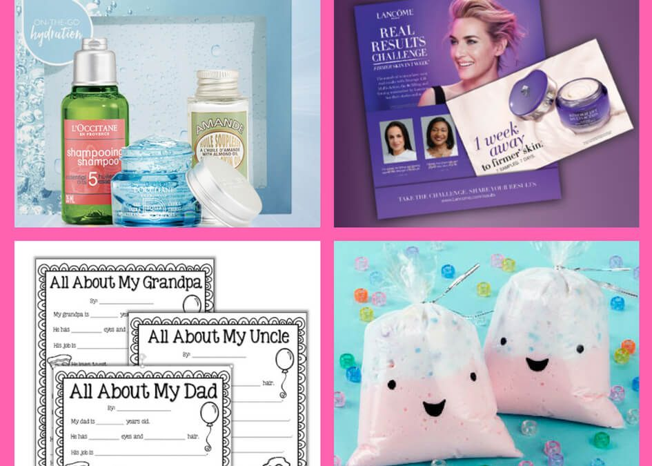 Don't Miss These FOUR (4!) FREEbies: L'Occitane Beauty Gift Set, Lancome RenergieSkin Cream, All About My Dad Printable and Michael's Slime Event!