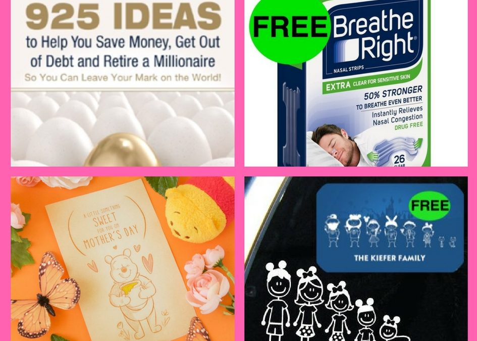 Don't Miss Out on These FOUR (4!) FREEbies: 925 Ideas to Help You Save Money eBook, Breathe Right Strips, Winnie the Pooh Mother's Day Card and Disney Family Decal!