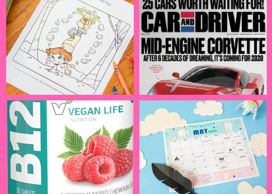 Have You Requested These FOUR (4!) FREEbies: Luke and Yoda Disney Coloring Page, One-Year Subscription to Car and Driver Magazine, Vitamins and Disney May Calendar!