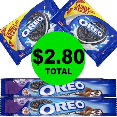 $2.80 for (2) Oreo Family Size Cookies & (2) Oreo Candy Bars at Publix! (5/6 to 5/8 or 5/9)