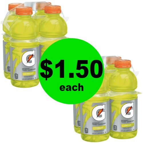 Gatorade 4 Packs, $1.50 at CVS! (Ends 5/12)