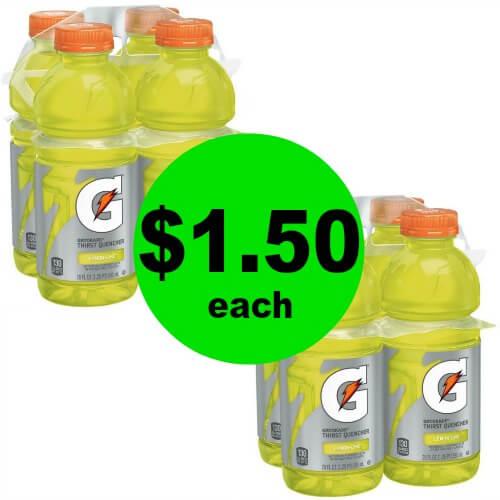 Gatorade 4 Packs, $1.50 at CVS! (Ends 5/12)