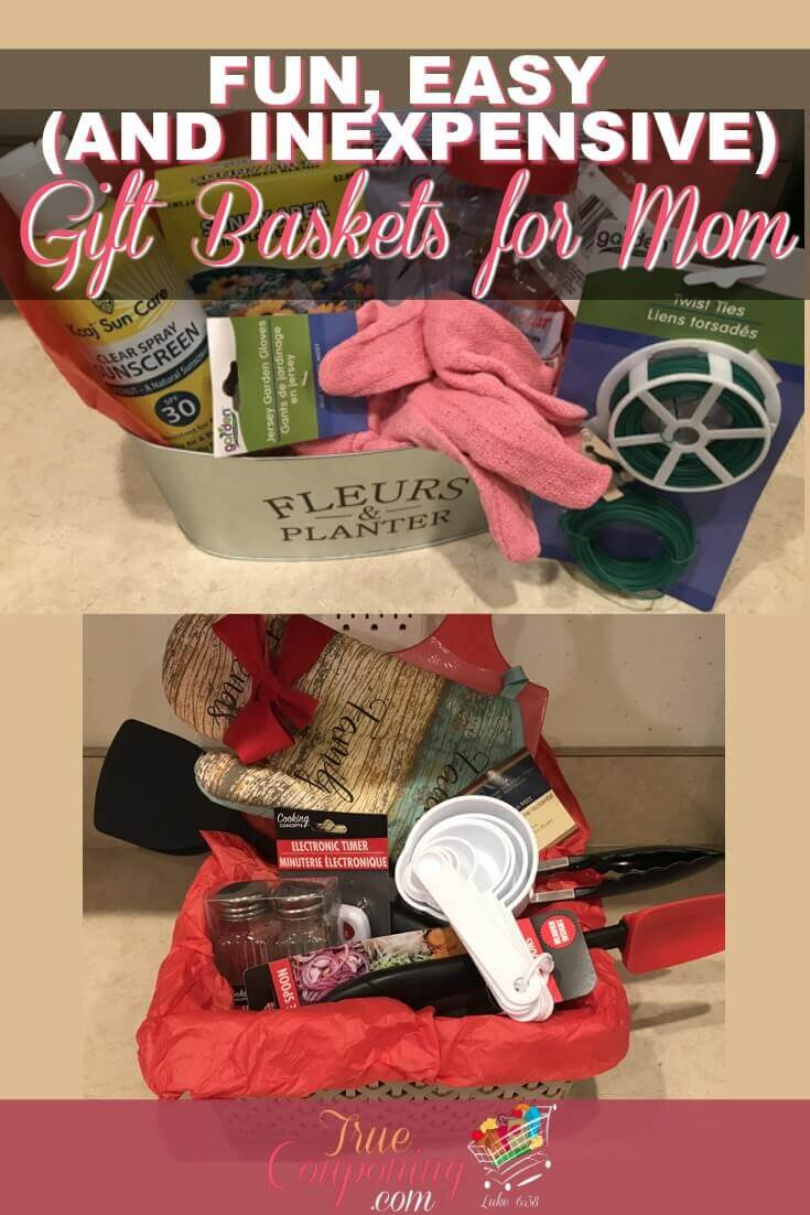 Need an affordable Gift Basket for Women idea that won't break the bank? With a little bit of creativity and these lists of items to throw inside, you can have a great gift to give in minutes! #savingmoney #truecouponing #giftideas #gifts #dollartree