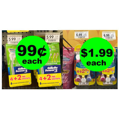 Publix Deal: 😉 99¢ Gillette Sensor3 Or $1.99 Venus Simply3 Disposable Razors! (Ends 8/24)