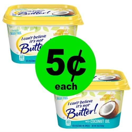 🤩Oh My! I Can't Believe It's Not Butter w/Coconut Oil is 5¢ at Publix! (Ends 6/5 Or 6/6)