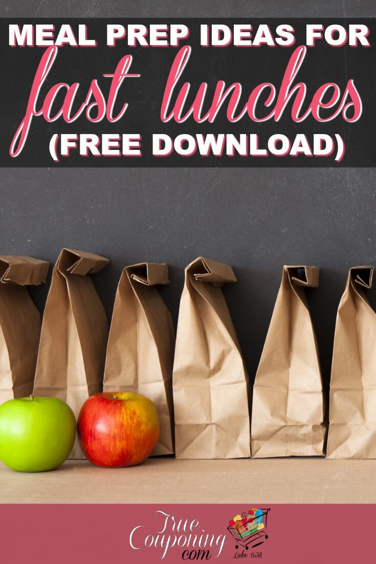 Lunch Solutions Are Here! If you dread making Back to School lunches like I do, then I\'ve got a quick and easy solution to make 30 days of lunches in minutes with these lunch meal prep ideas! #truecouponing #savingmoney #mealplanning #debtfree #lunchmeals