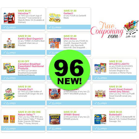 Ninety-Six (96) New Coupons Today! Save On Gerber, Canada Dry & More!