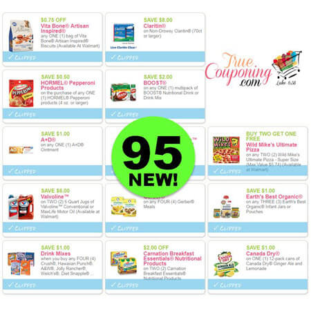 Ninety-Five (95) New Coupons Today! Save On Hormel, Boost & More!