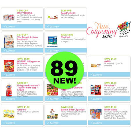 Eighty-Nine (89) New Coupons Today! Save On Bodyarmor, ZonePerfect & More!