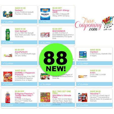 Eighty-Eight (88) New Coupons Today! Save On Irish Spring, Gerber & More!