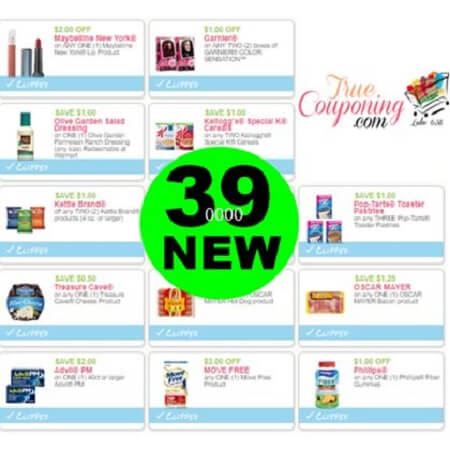 There Are (39) New Coupons! Save on Maybelline, Garnier & More!