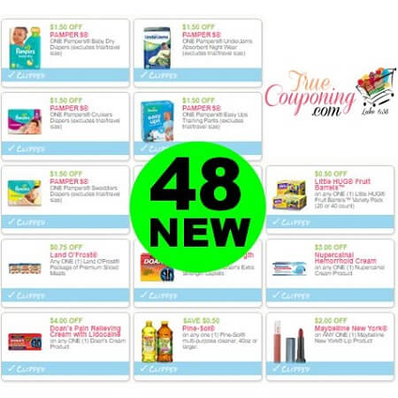 There Are (48) New Coupons! Save on Pampers, Pine-Sol & More!