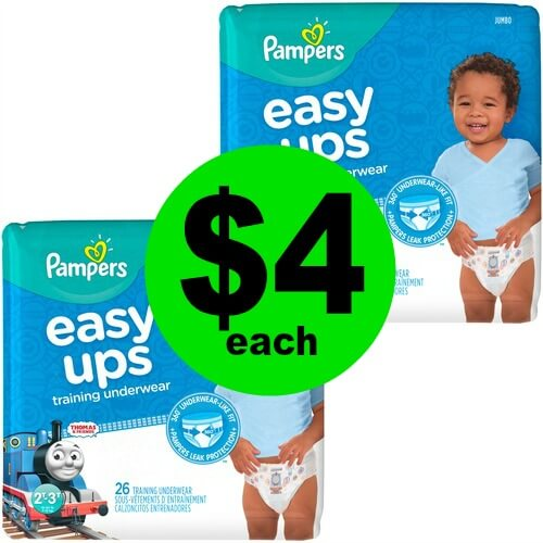 Pampers Easy Ups Baby Diapers Are $4 At CVS! (6/3-6/9)