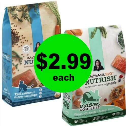 ?Rachael Ray Cat Food 3-lb Bag Only $2.99 Each at Publix (5/30 – 6/5 or 5/31 – 6/6)