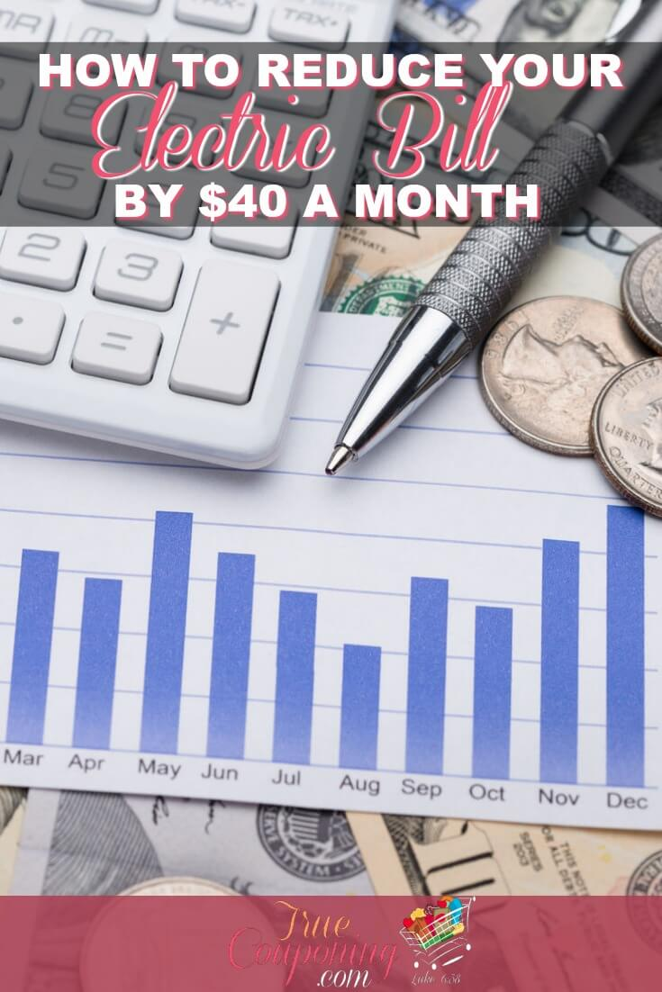 Is your electric bill really high? Learn some practical tips for how to lower your electric bills without losing any comforts. #savings #debtfree #electric #savemoney #truecouponing