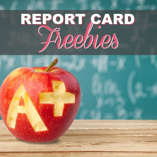 Report Card FREEbies & Rewards for Good Grades in 2018!