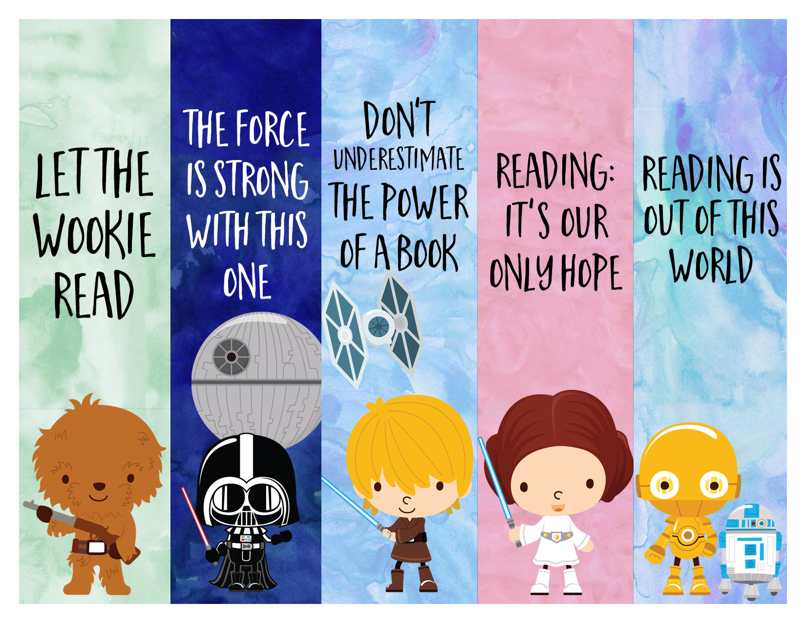 photo regarding Star Wars Bookmark Printable titled Absolutely free Star Wars Printable Bookmarks!