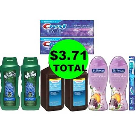 For $3.17, Get (2) Hydroden Peroxides, (3) Oral Care & (4) Body Washes at Walgreens! (5/13-5/19)
