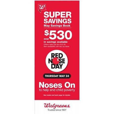 Walgreens May 2018 Coupon Savings Booklet (Valid 5/6 – 6/2/18)