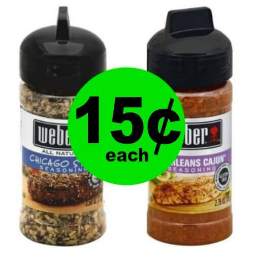 ?Get Your Weber Seasonings Only $.15 Each At Publix! (Expiring 5/23)