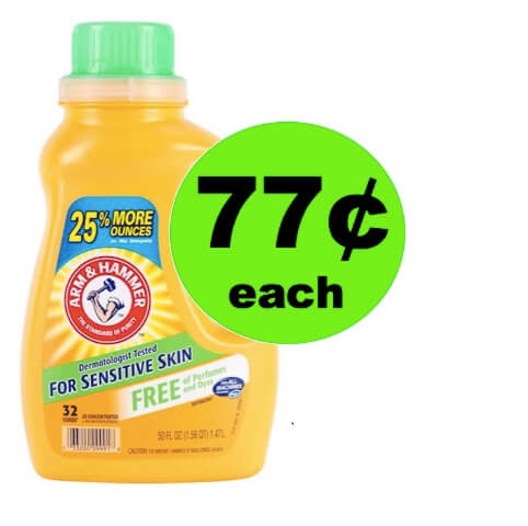Clean Clothes for Cheap with 77¢ Arm & Hammer Sensitive Detergent at Walgreens (at CVS too)! (Ends 5/12)
