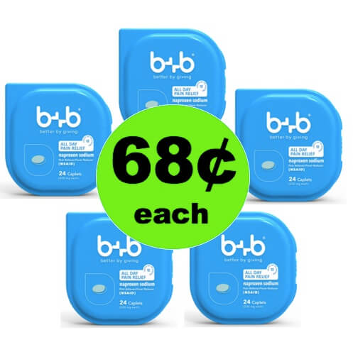Feel Better with 68¢ b+b Naproxen Pain Relief at Walmart! (Ends 5/17)
