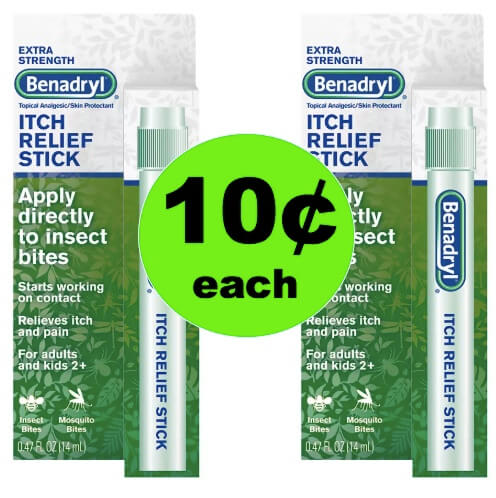 No More Itch with 10¢ Benadryl Itch Stick at Walgreens! (Ends 5/12)