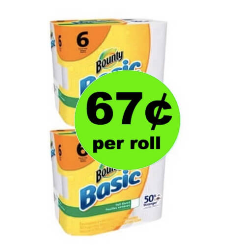 Mess Be Gone with Bounty Basic Paper Towels Only 67¢ per Roll at Winn Dixie! (Ends 5/15)
