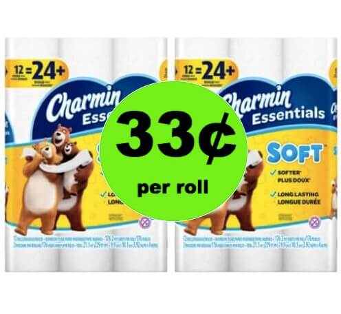 SCORE Charmin Essentials Bath Tissue Only 33¢ per Roll at Winn Dixie! (Ends 5/8)