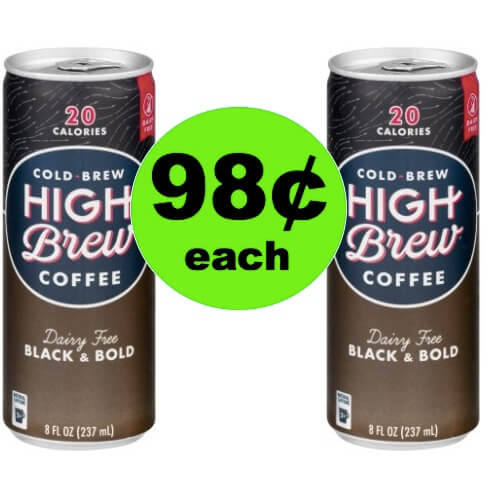 Wake Up with 98¢ High Brew Coffee Drinks at Walmart!