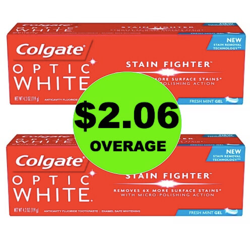FREE + $2.06 Overage on Colgate Total or Optic White Toothpaste at Walgreens! (Ends 5/19)