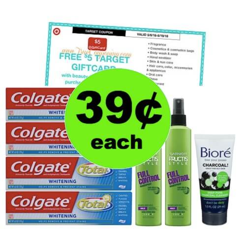 Super Stock Up! ? Get $.39 Colgate, Garnier & Biore At Target! (Ends 5/19)