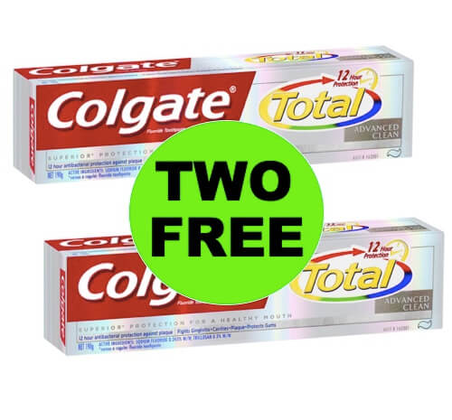 TWO (2!) FREE Colgate Total Toothpaste at Walgreens (at CVS too)! (5/6-5/12)
