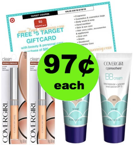 SCORE 97¢ CoverGirl Foundation & Concealers at Target! (Ends 5/12)