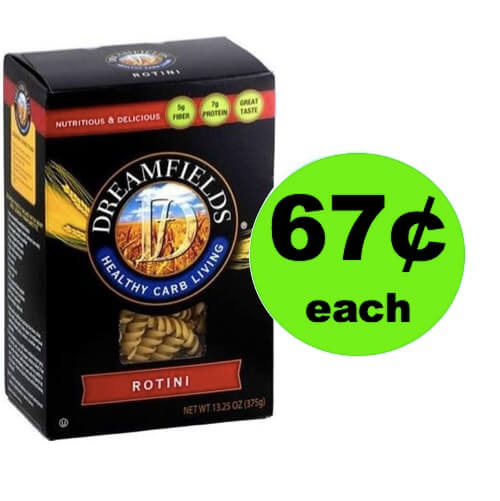 Pick Up Dreamfields Low Carb Pasta Only $0.67 Each! (Ends 5/25)