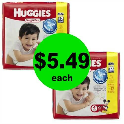 Print for $5.49 Huggies Diapers at CVS! (5/13-5/19)