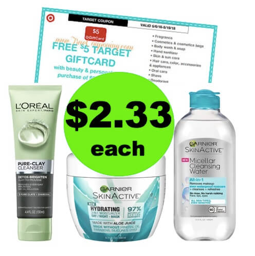 SCORE $2.33 L'Oreal & Garnier Skin Care at Target! (Ends 5/19)