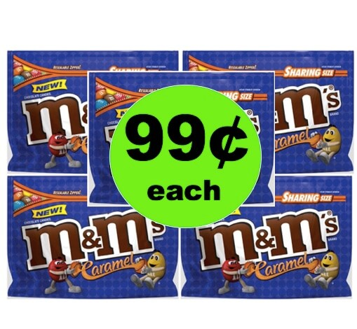 CHEAP CANDY! Get 99¢ M&M's Caramel Sharing Size Bags at Target! (Ends 6/3)