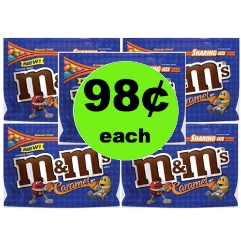 MORE CHEAP CANDY! Pick Up 98¢ M&M's Caramel Candy Bags at Walmart (at Target & CVS too)!