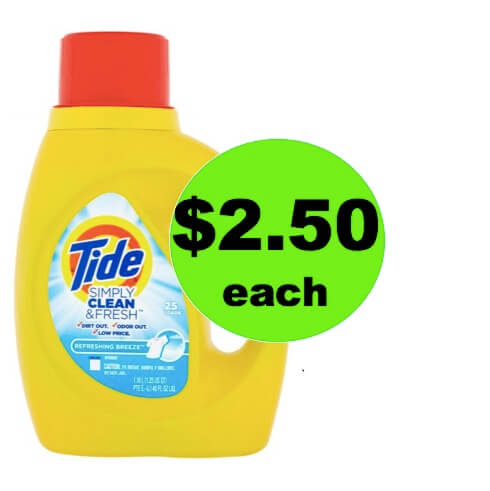 LAST CHANCE to Pick Up Tide Simply Detergent Only $2.50 at Winn Dixie! (Ends 5/15)