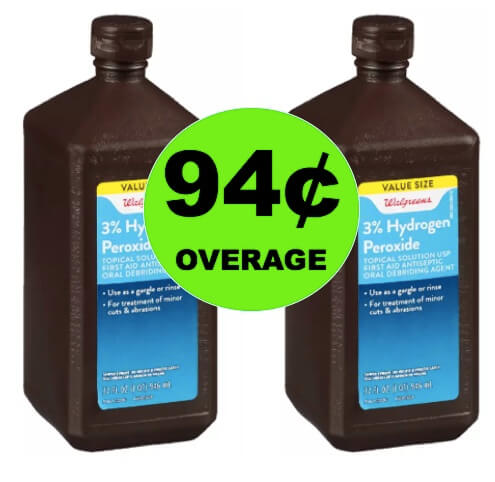 FREE Hydrogen Peroxide + 94¢ Overage at Walgreens! (Ends 6/2)