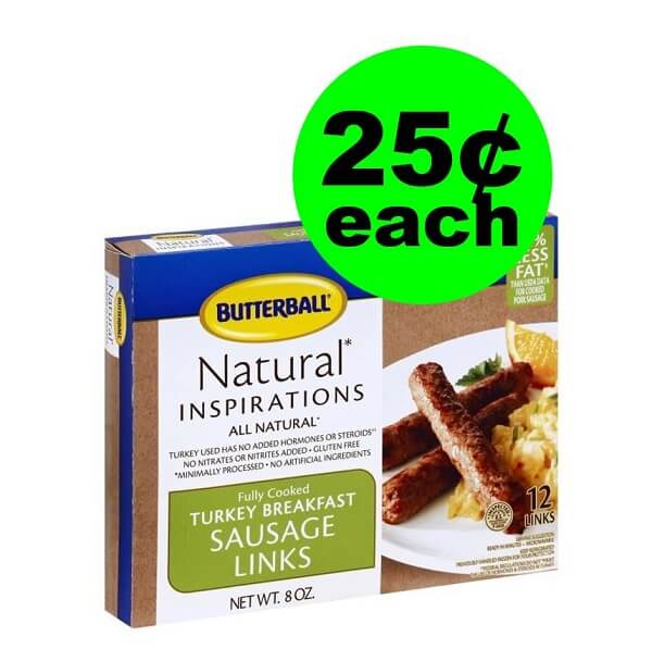 Publix Deal: 🍳 25¢ Butterball Turkey Breakfast Sausage (After Ibotta)! (Ends 3/26 Or 3/27)