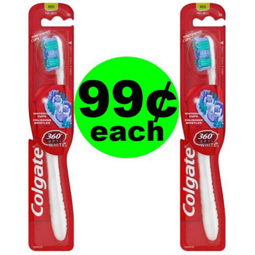 😁 Clean Away With 99¢ Colgate Toothbrushes At CVS! (6/24-6/30)
